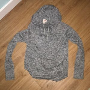 Heather gray cowl neck sweatshirt